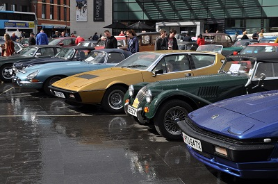classic cars in the city centre